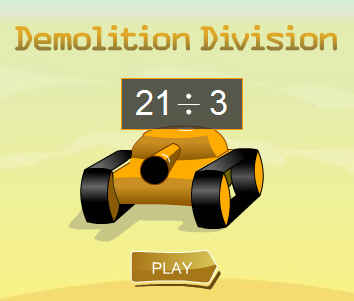 Picture of a ScreenShot of & Link to the Online game - Demolition Division